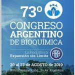 73º Congreso Argentino de Bioquimica